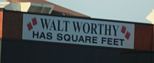 Walt worthy sign