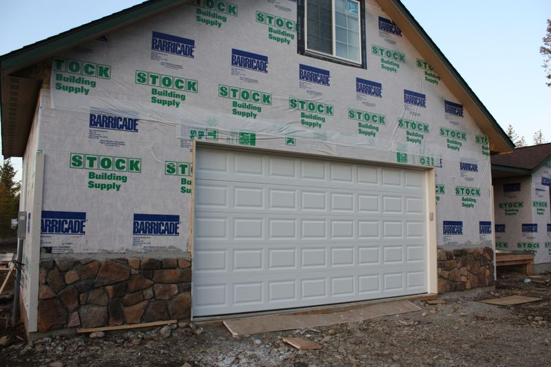 Rock front & garage door